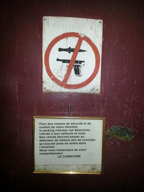 No knives and guns