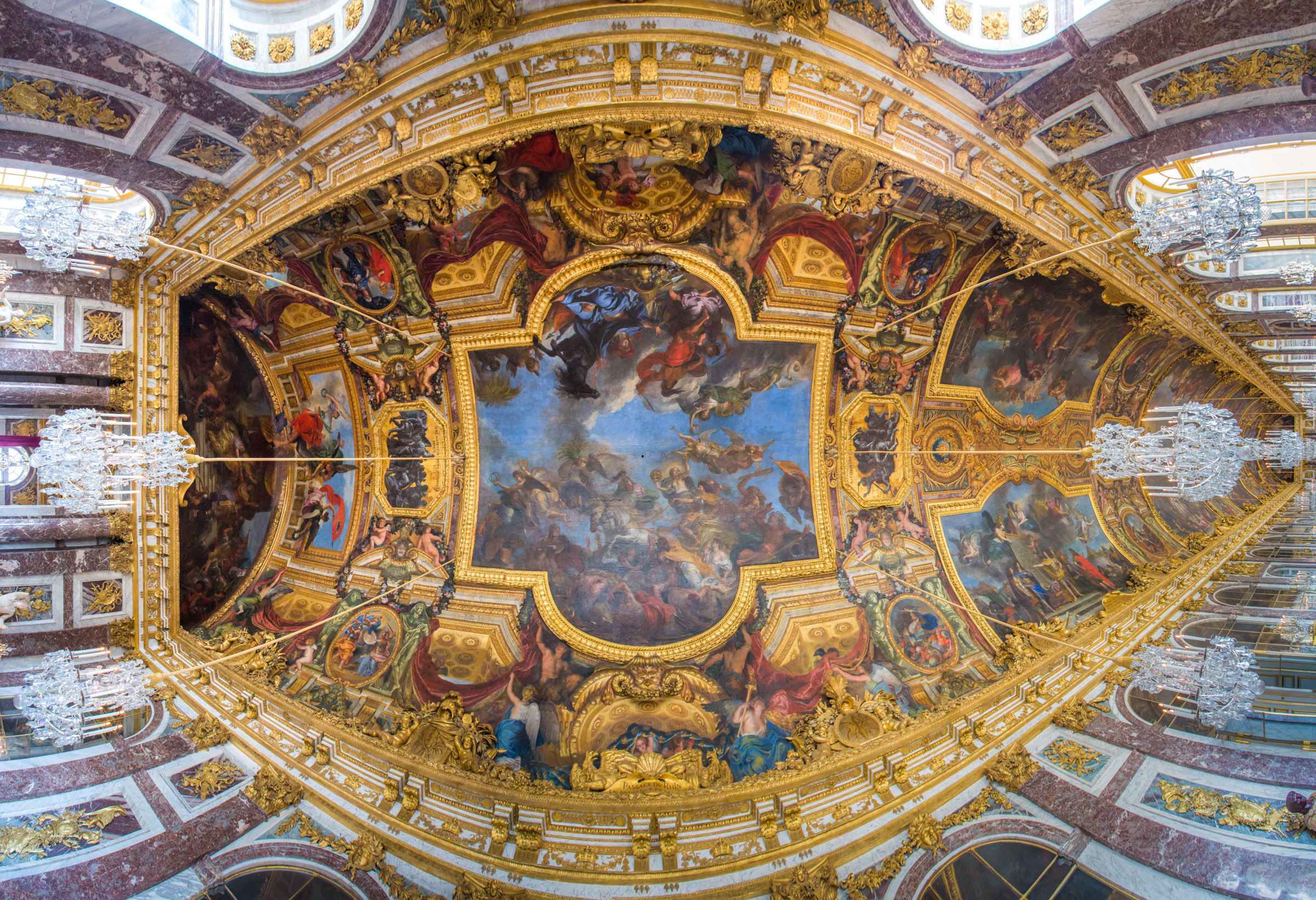 Panoramic Photo Of The Hall Of Mirrors Ceiling In Versailles France Woahdude