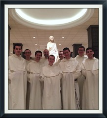 Fr. Benedict with 1/2 novitiate class in DC