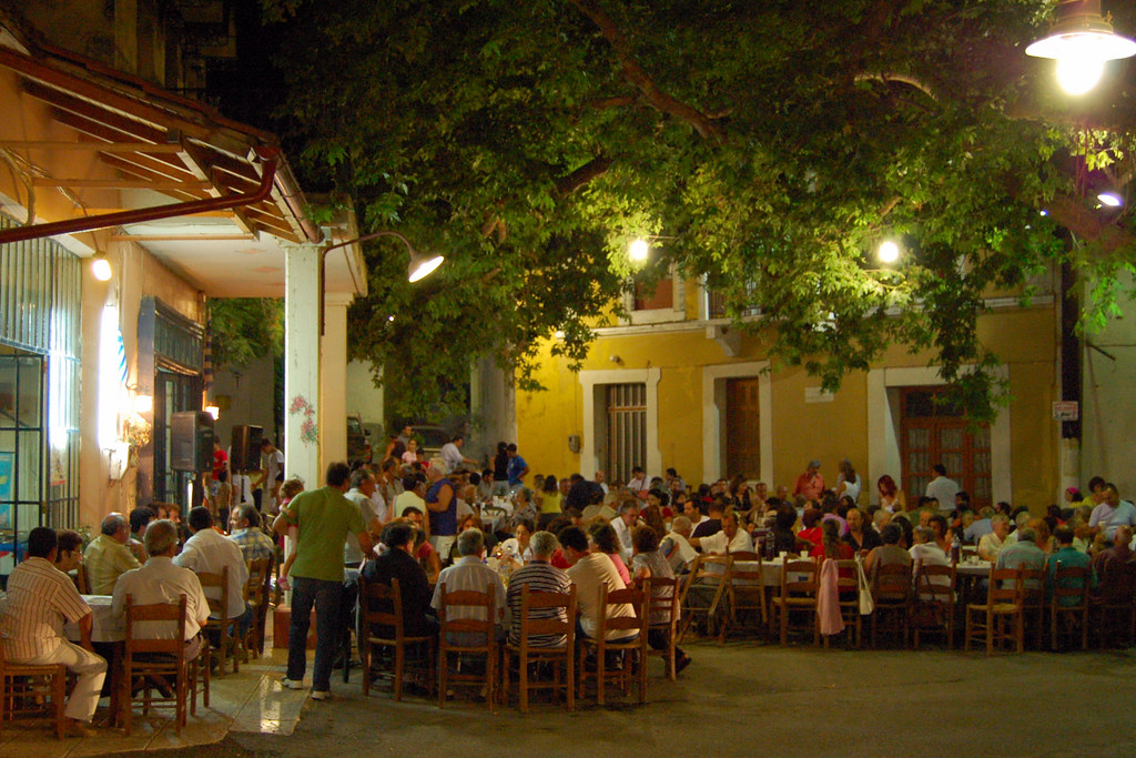 Traditional Klidonis celebration in the village of Armeni on the Greek island of Crete