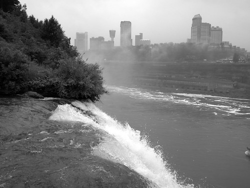 Downtown Niagara, Ontario and the falls