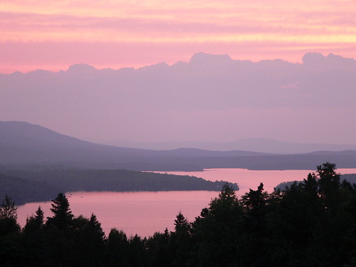 travel sunset summer lake maine 2008 greenville moosehead piscataquiscounty