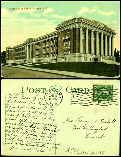 Albany High School postcard