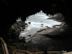 ice cave(0.0), ice(0.0), caving(0.0), formation(1.0), sea cave(1.0), cave(1.0),