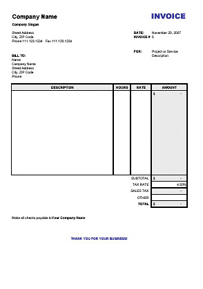 sample invoice for services rendered template – residers, Invoice templates