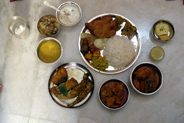 Spread of traditional bengali food flickr photo sharing for Authentic bengali cuisine