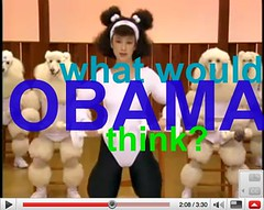 A VERY IMPORTANT QUESTION 4 the NEW PRES:  What would OBAMA think of dancing workout poodles?