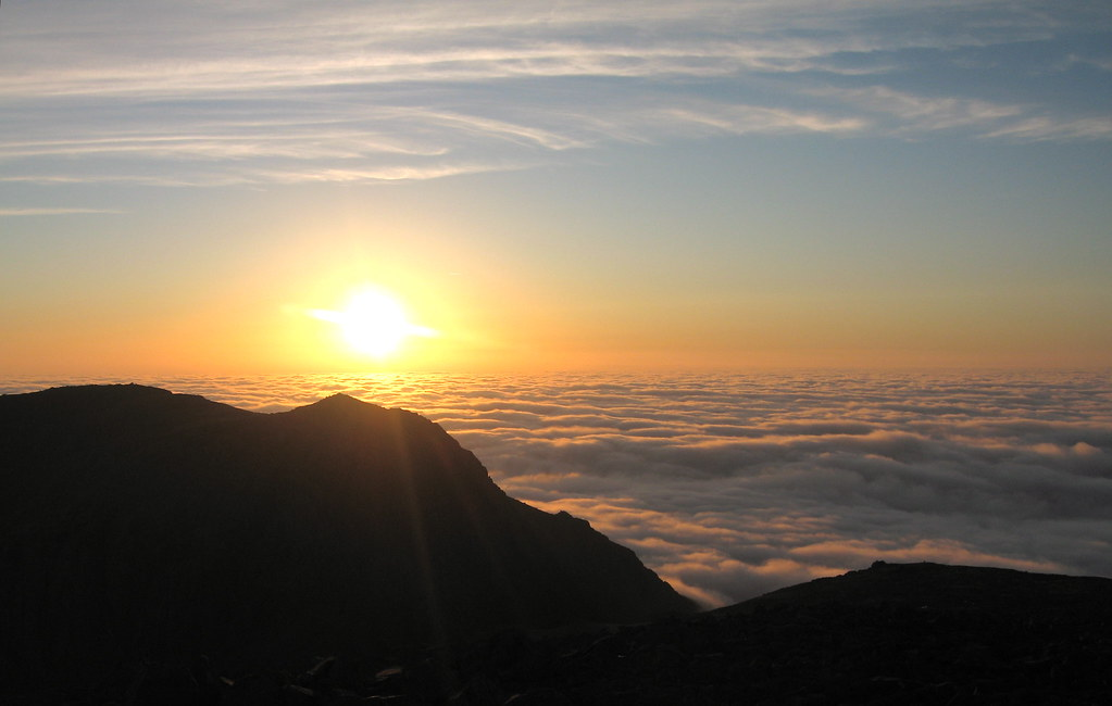 Sunset on Scafell: the highest point in England