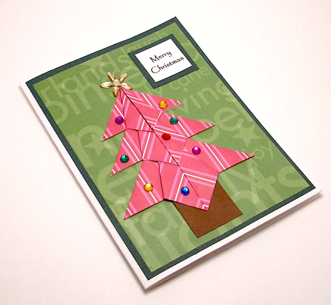 Origami Christmas Tree Card - a photo on Flickriver - photo#10