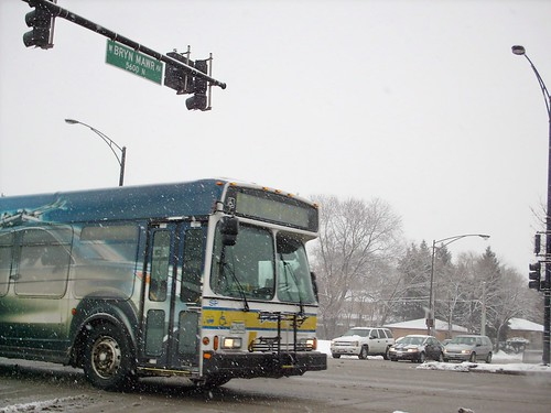 Southbound Pace bus at North Harlem and West Bryn Mawr Avenues. Chicago Illinois. February 2008. by Eddie from Chicago