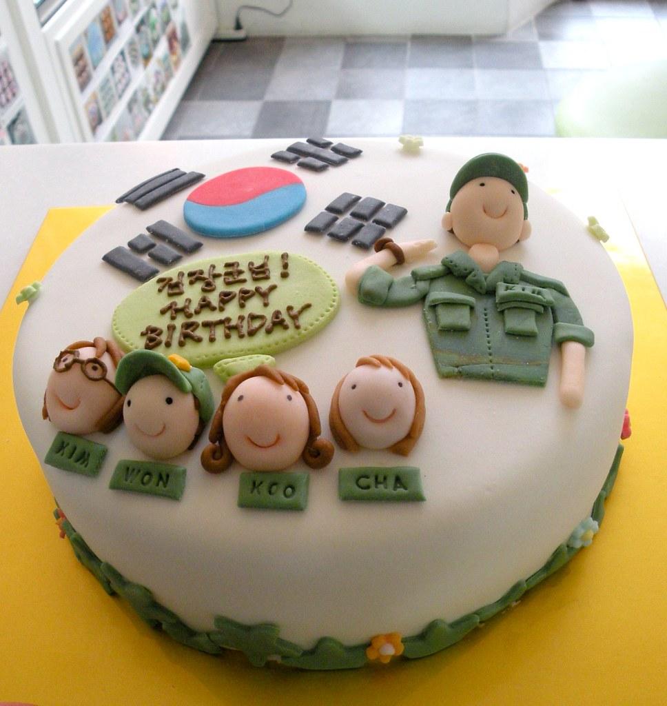 Awesome Patriotic Birthday Cake Kim Hyeyoung Flickr Funny Birthday Cards Online Fluifree Goldxyz