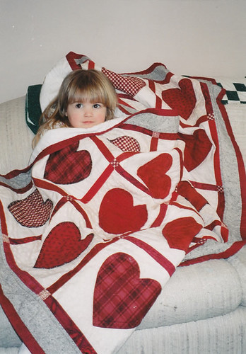 Libby and her quilt