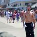 Man on Boardwalk by Morris Hunt