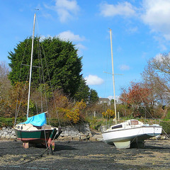 Two boats at Trevissome