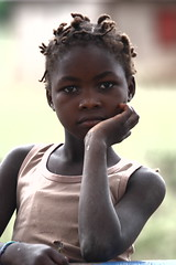 Now looking at me... Girl portrait (op. 3), Goba, Mozambique, Africa