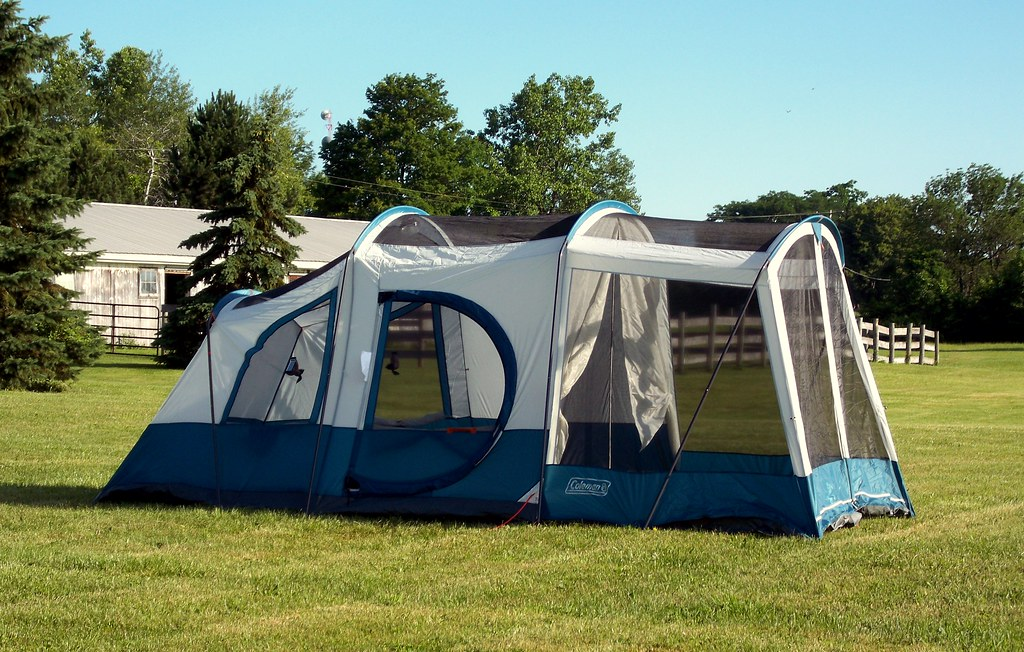Coleman Camping Elite Sundome  Person Tent  Rooms
