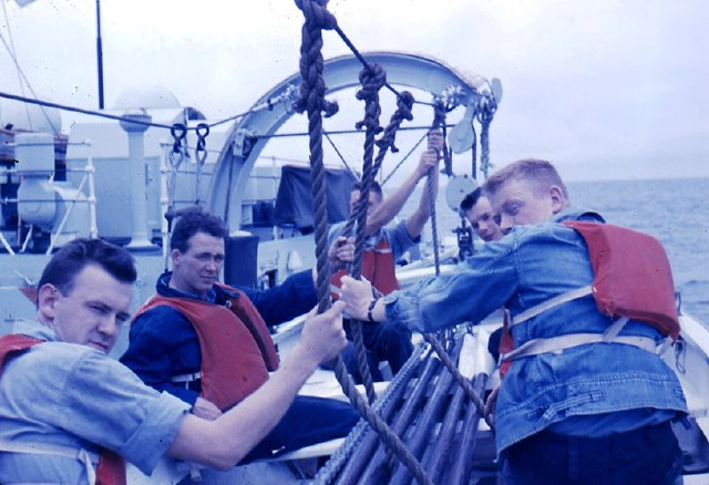 On the HMCS Ste Therese about 1962