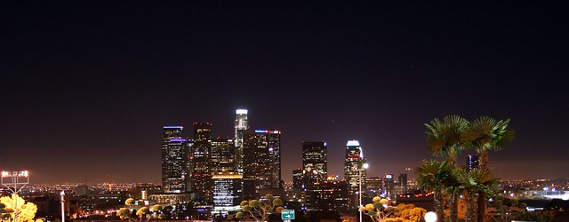 Los Angeles Skyline Dodger Stadium Sept 19 2008