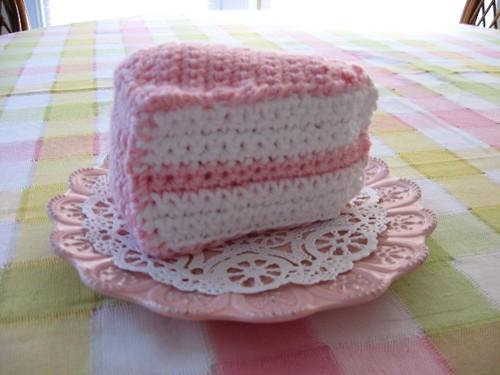 Free Crochet Cake Slice Pattern