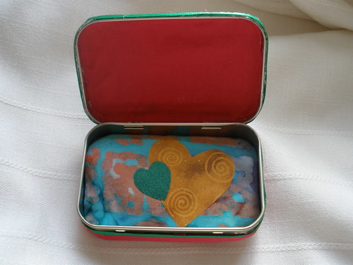Inside of an Altered Altoid Tin