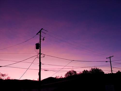 arizona sunrise telephone az pole wires prescott picoftheday