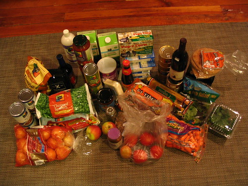 week 2 of groceries in the xtraycle