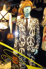 NYC - Barney's 2008 Holiday Window - Peace & Love: Have a Hippie Holiday!