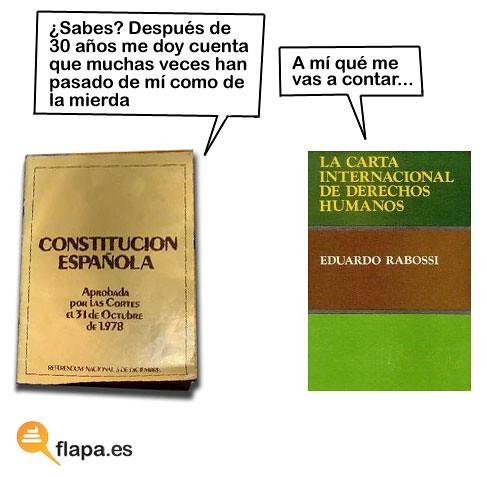 La constitución española habla con la carta internacional