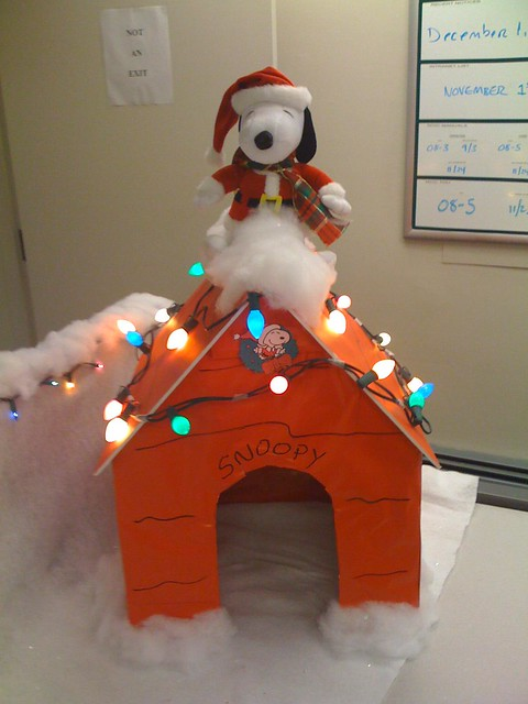 Snoopy Christmas Cubicle  Flickr  Photo Sharing!