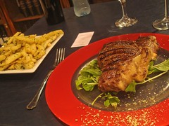 Steak and chips in Buenos Aires