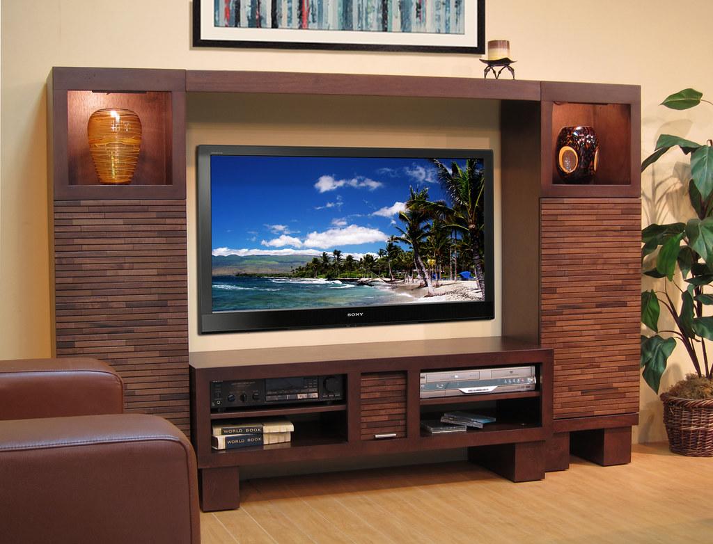 modern contemporary entertainment center wall pacific 48 mocha side