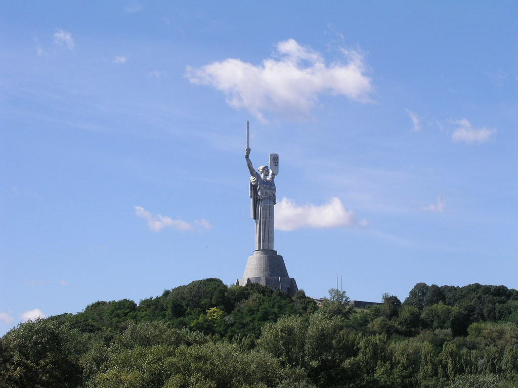 Motherland Monument, Kiev, Distant