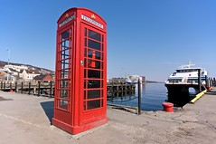 Phone booth at Harstad harbour
