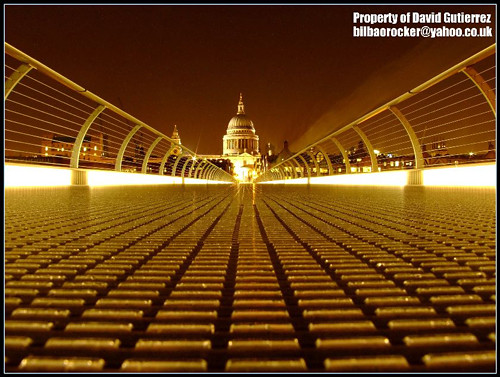 London St Pauls at Night ; Low Vantage Point