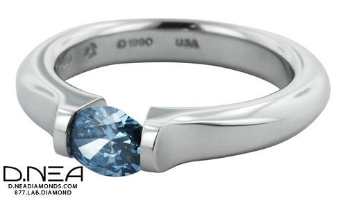 Platinum Ring Lab Created Soltaire