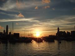 日落銅鑼灣避風塘
