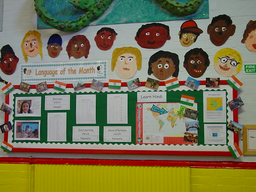 Modern Language Classroom Displays ~ Language of the month displays classroom