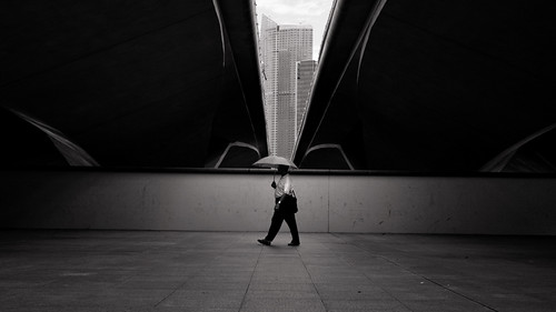 Man  with a umbrella