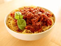 carbonara(0.0), meatball(0.0), bucatini(1.0), spaghetti(1.0), pasta(1.0), meat(1.0), bolognese sauce(1.0), food(1.0), dish(1.0), european food(1.0), cuisine(1.0),