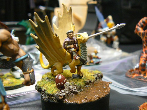 A gnome on a gold dragon?