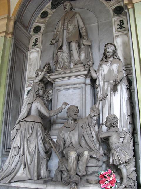 El Cementerio Monumental de Staglieno, Génova, Italia.