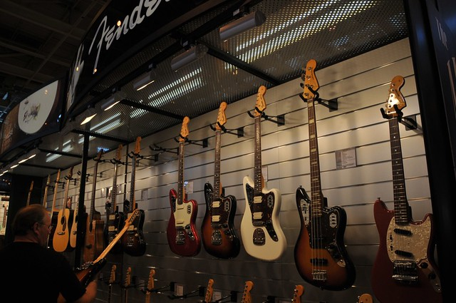Photo:Fender Jaguar guitars By fvancini