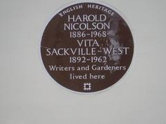 Photo of Harold Nicolson and Vita Sackville-West brown plaque