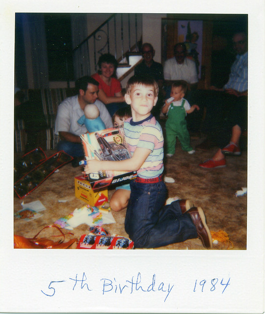 Fifth birthday, 1984