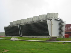 building, cooling tower,