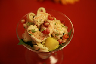 Seafood Ceviche with slivers of lemongrass and Lime Zests