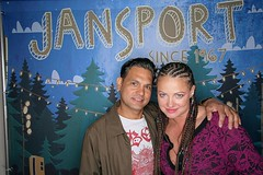 Tony and Ms KRYSTEE at Filter party courtesy of Jansport