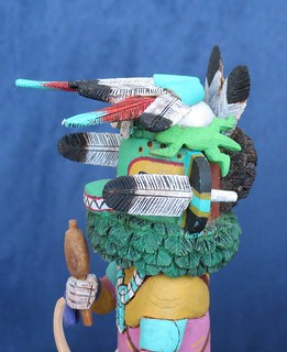 Hopi Lizard Kachina (Monongya), Close-up View Of The Mask