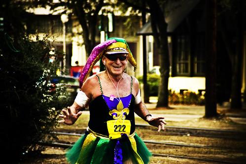 Mardi Gras Marathon runner