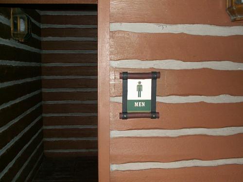 Pioneer Hall Restrooms - Sign